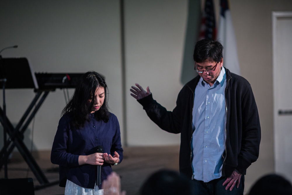 Pastor Ben Praying for Jasmine Who is Returning to Hong Kong
