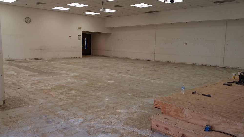 Social Hall Floor Removal - EFCI