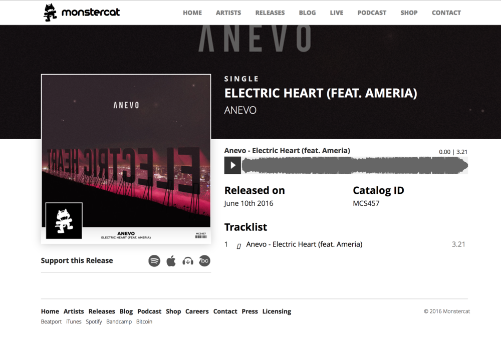 """Electric Heart"" MONSTERCAT Release"