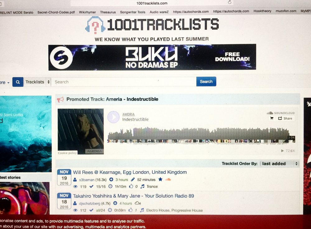 """Indestructible""   1001 Tracklists feature"