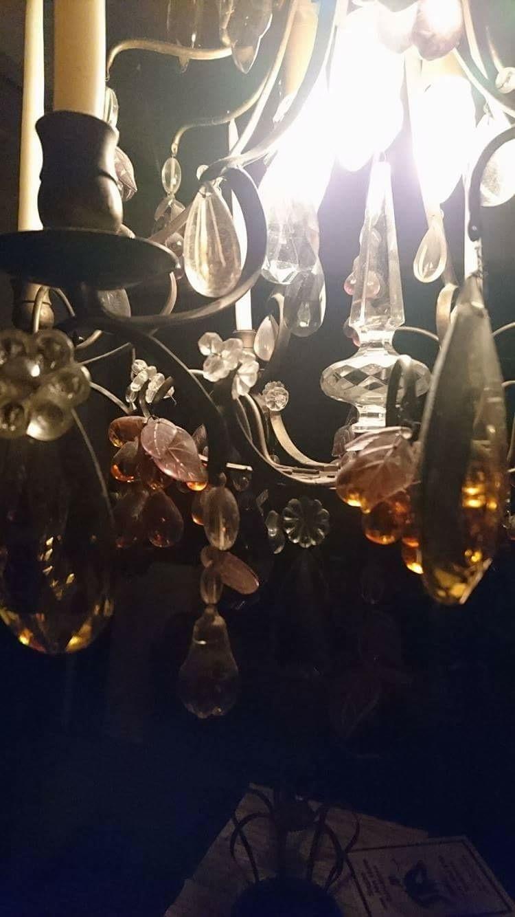 En liten glimt av kristallkronan...
