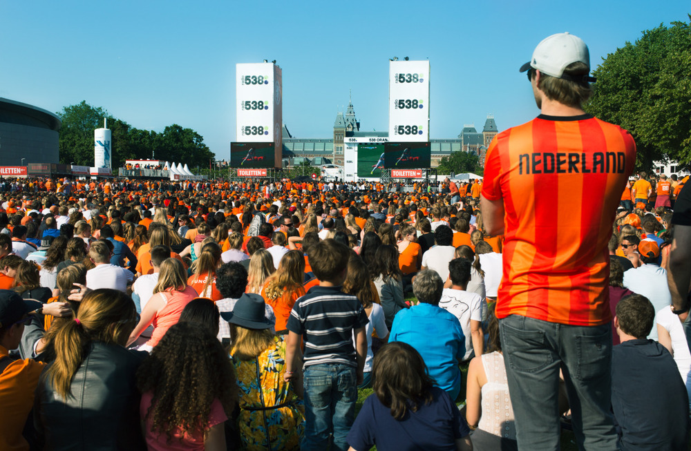 Throwback thursday: Photo taken a week ago at the Museumplein. Sad that Holland is out from the World cup…