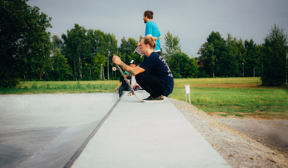 Throwback Thursday: Skate with Daniel last year at a very nice park somewhere in Skåne.