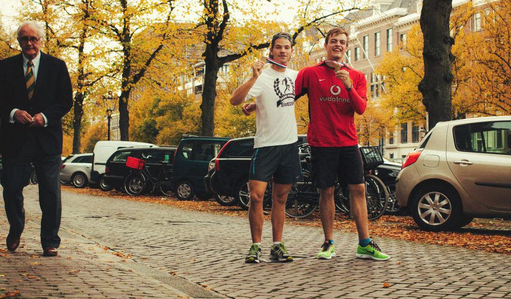 Throwback Thursday: Good times when me and Cedric was running the last 5 km in a half marathon last year in October.
