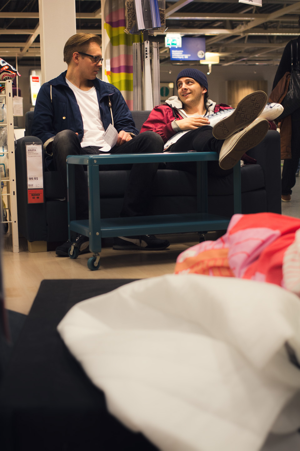 Shopping all day long with this guys at Ikea.