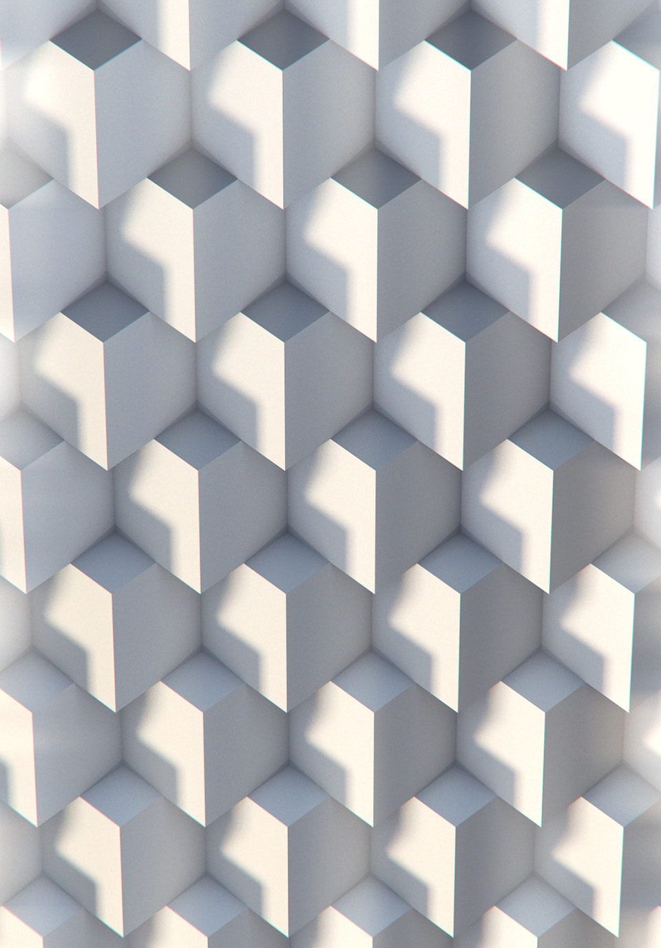 Symmetrical pattern.