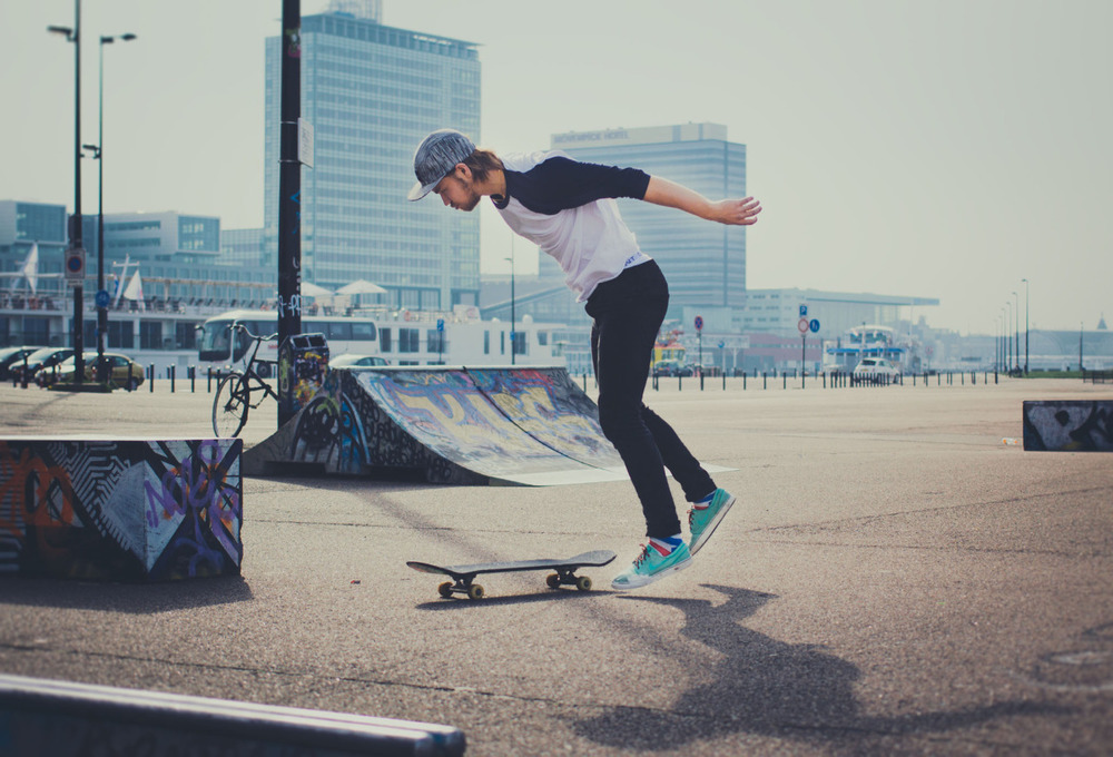 It has been so great skate weather today, almost like summer! Here is a nice photo that Sebastian caught…