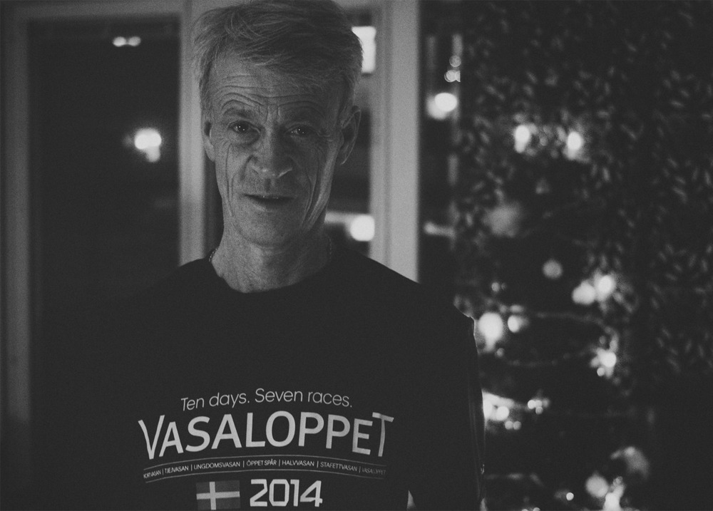 Dad is in hard training to his very first Vasalopp.
