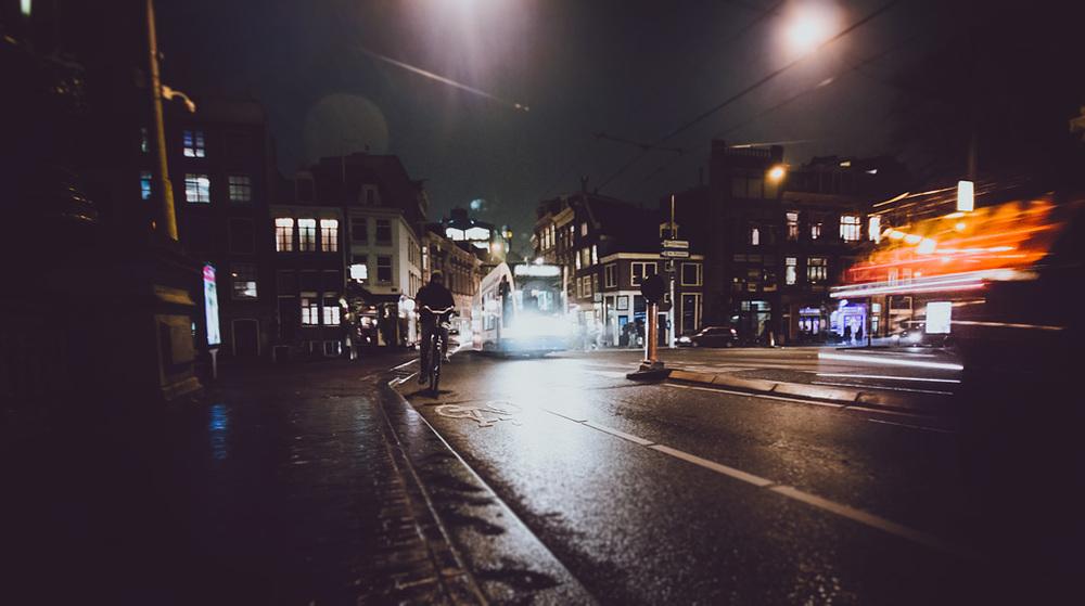 Dark cold Amsterdam.