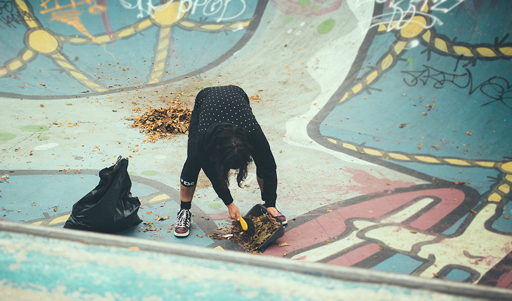 Autumn skate in the Marnix bowl.