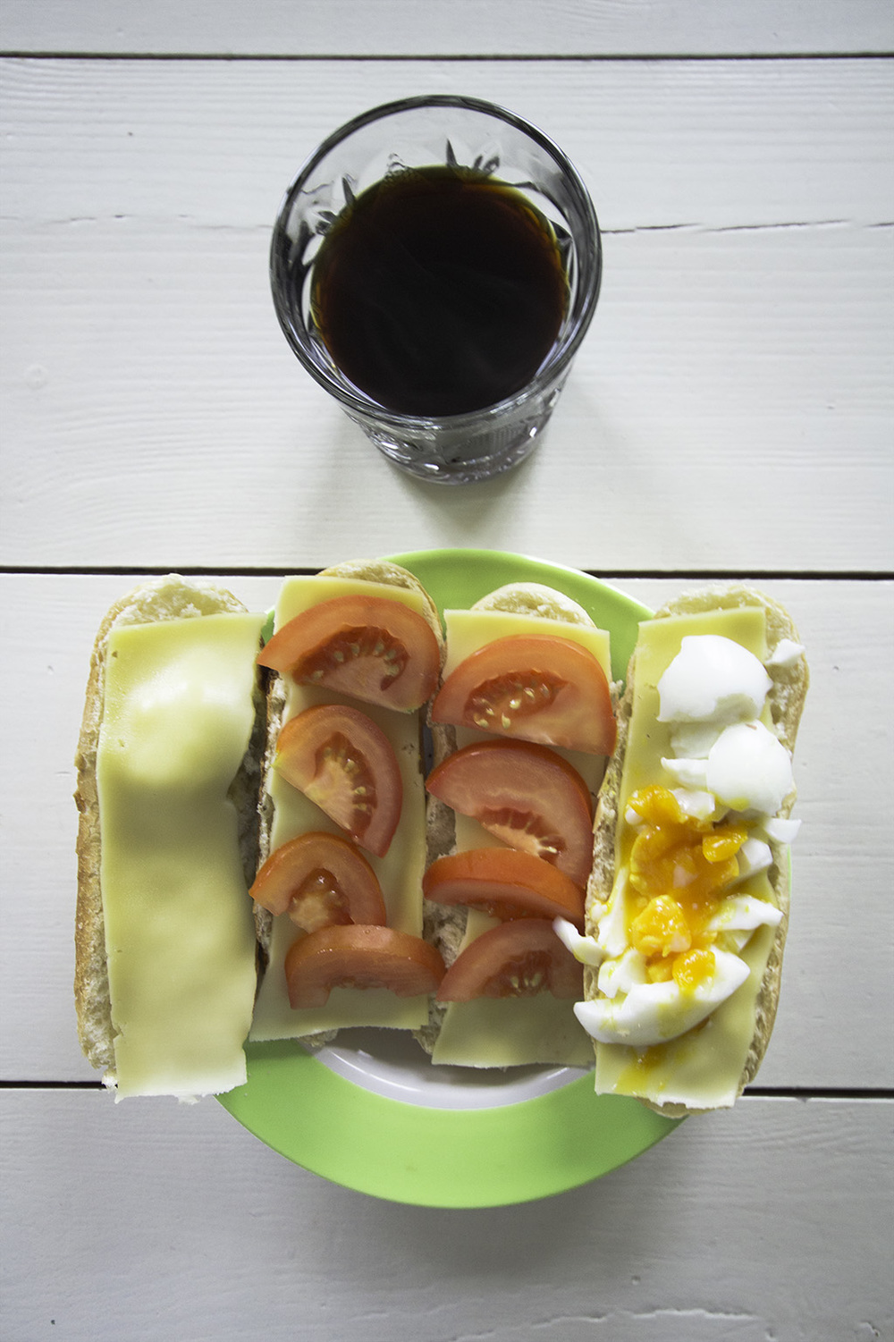 This is a classic breakfast for me during the weekends.