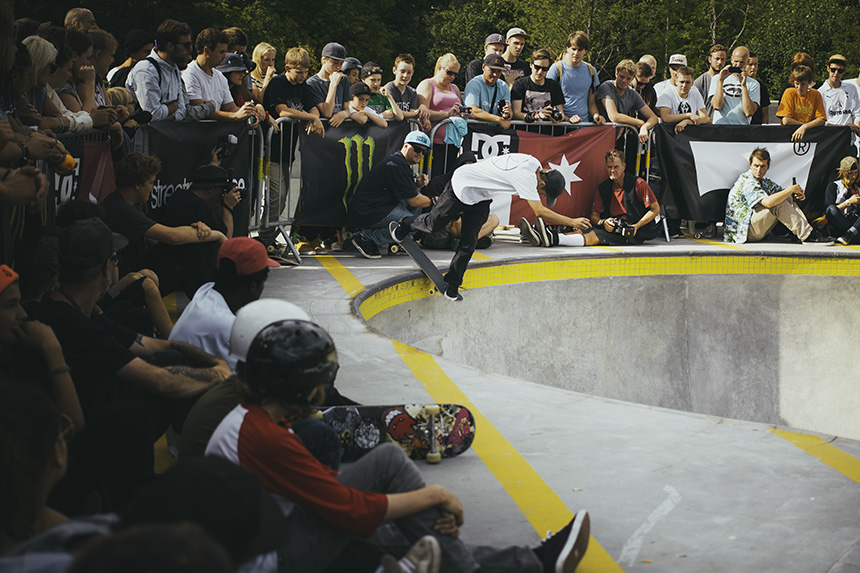 Me and my brother took the train to see Copenhagen bowl competition. Here is Oskar Rozenberg Hallberg Bs lipslide.