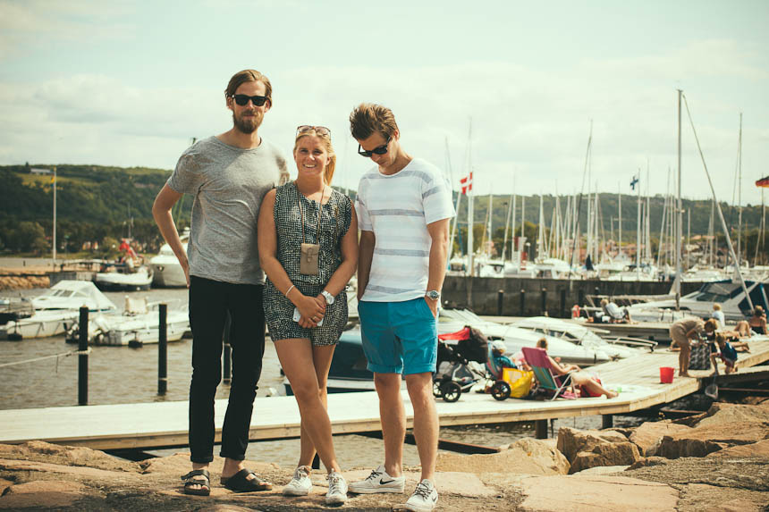 This photo is taken in the harbor in Båstad. Brother, cousin and Marco.