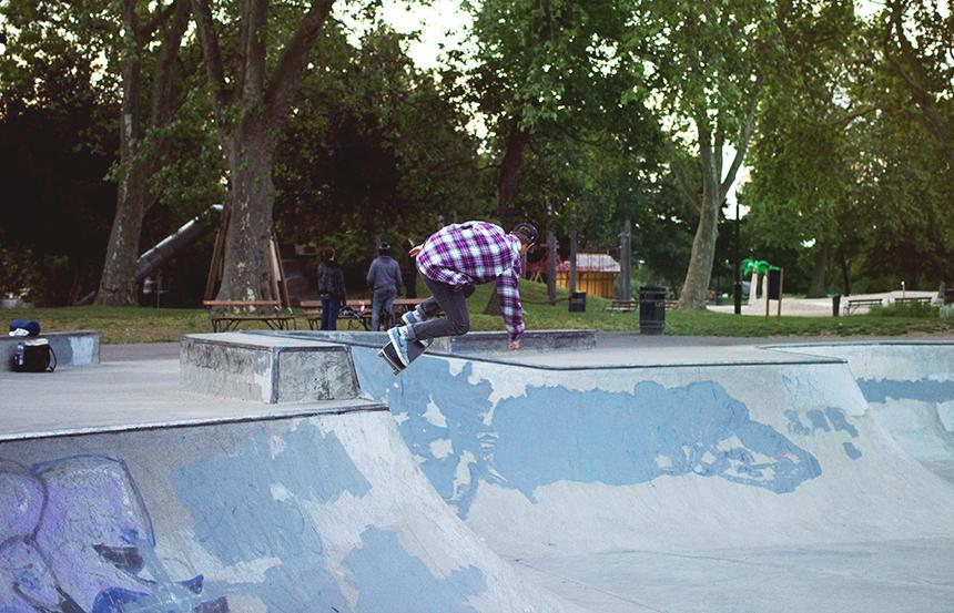 I had my last visit inVictoriaskatepark today. I will miss it. buhu