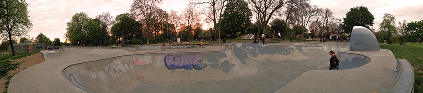 The best skatepark in London. Victoria skatepark!