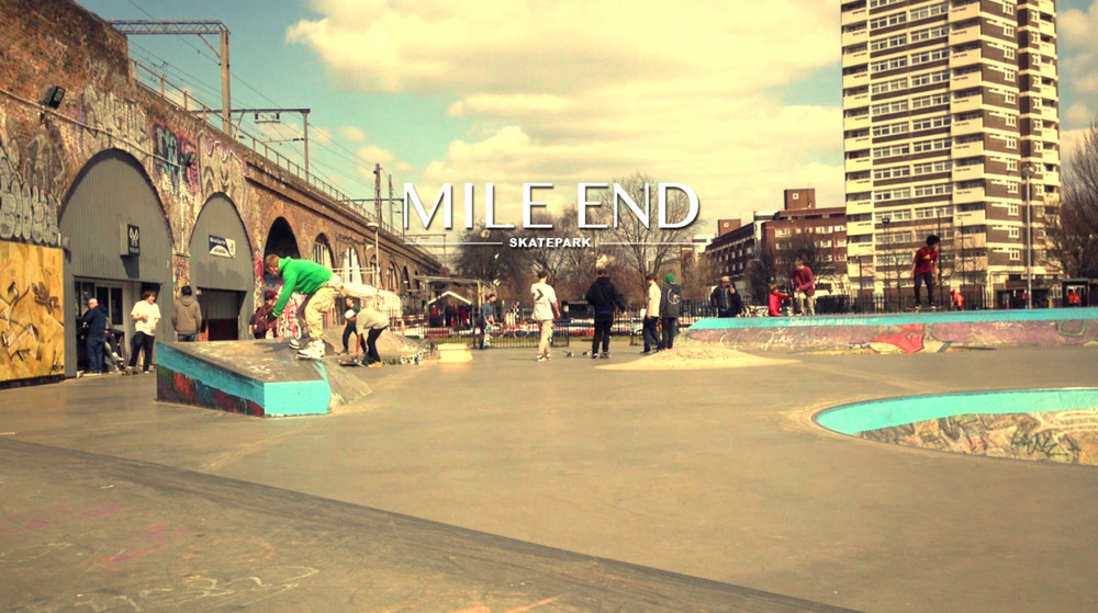 It was a great warm day here in London. Me and Niklas has been skating around and we where visiting Mile End and Victoria parks skateparks!