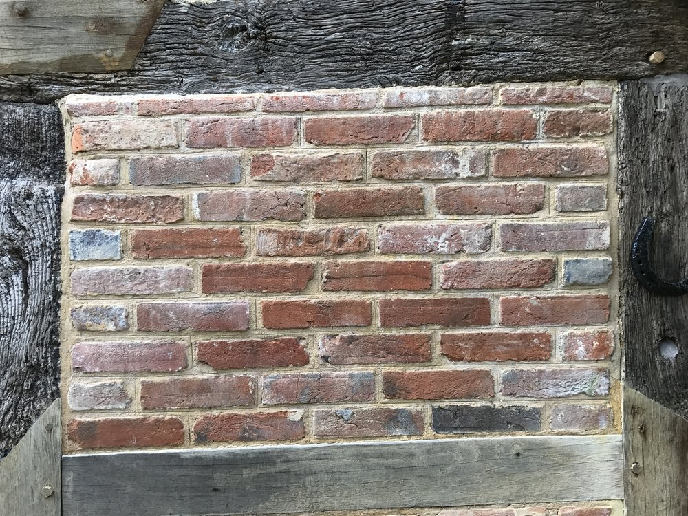 Example of repaired brick panel