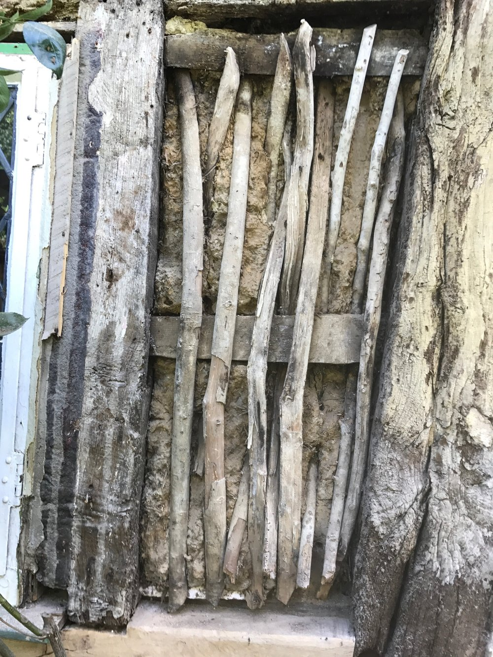 Wattle and daub panel