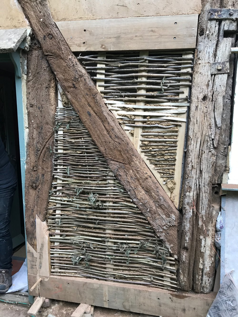 re-placement wattle ready for daub