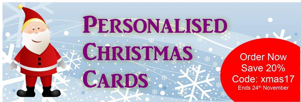 Personalised christmas cards the arty card company exmas bannerg colourmoves Choice Image