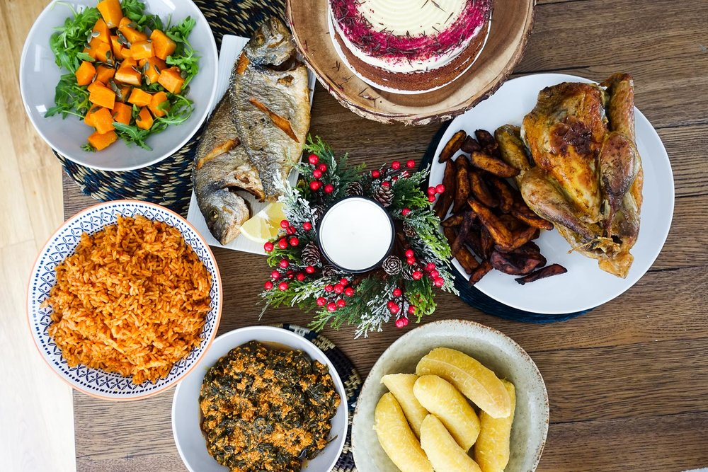 West African inspired Christmas dinner