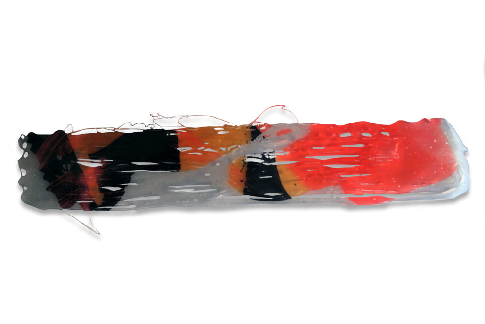 TRANSFER nº4, 2015, Transferencia Digital sobre cola termofusible. 5,5 x 38 cm