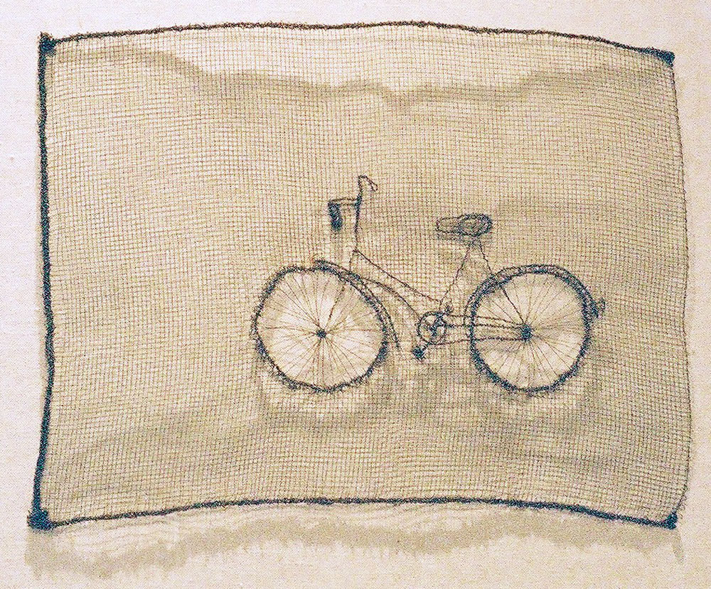 Bicycle (2004) - mosquito netting - 30cm x 50cm