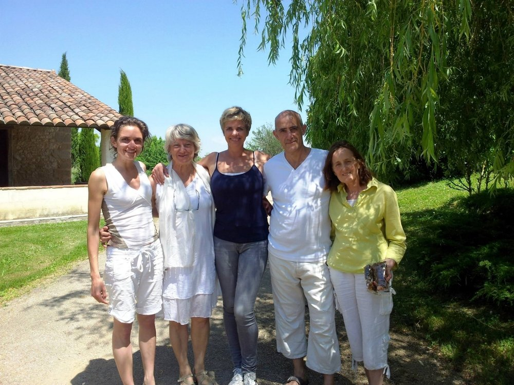 My beautiful assistant Aurore Azais, Monique and Aithor and Veronique who does amazing four handed Auyrvedic massage