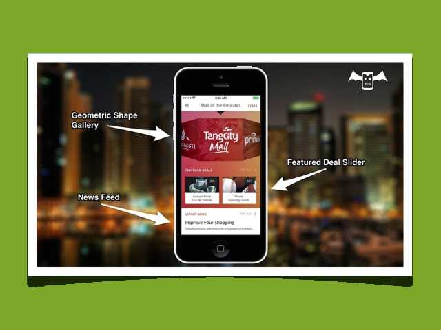 "Mall APP<br>-Mockup-<strong>APP Development</strong><a href=""http://draculapp.com/demoall"">See Concept</a>"