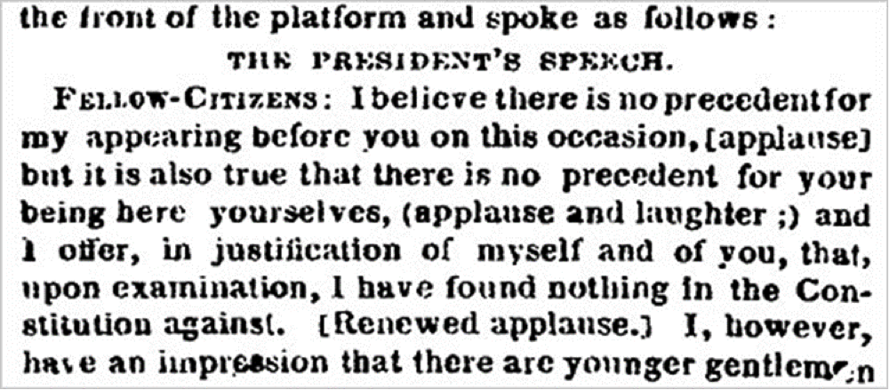 President Lincoln speech
