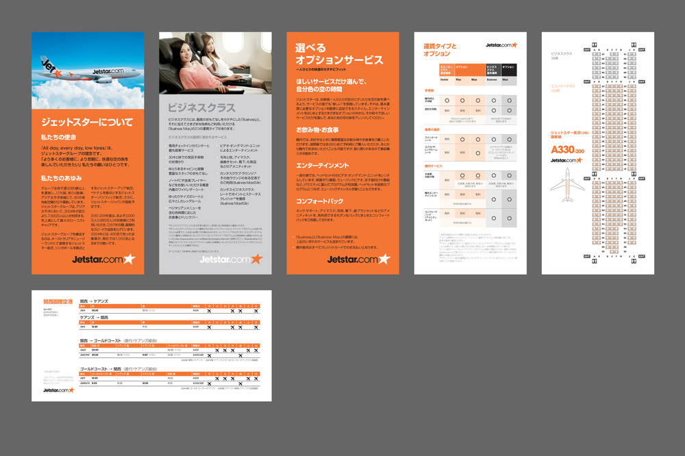 Samples from a single sheet information system that fits into a pocket folder. Adheres to identity guidelines, yet advances a clear and orderly grid-based design.
