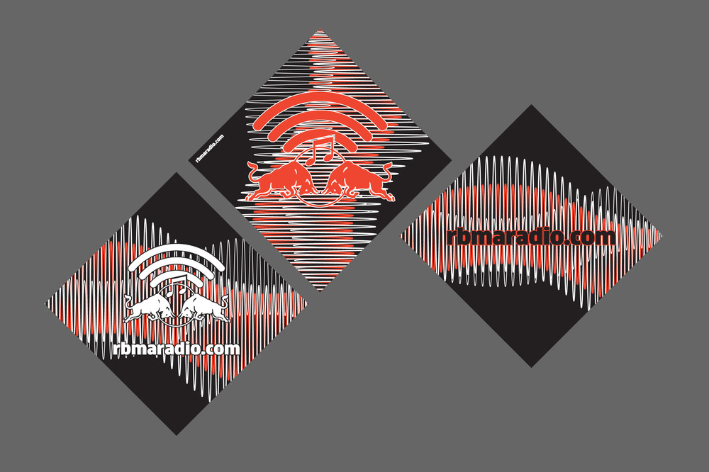 sticker designs for red bull music academy radio.