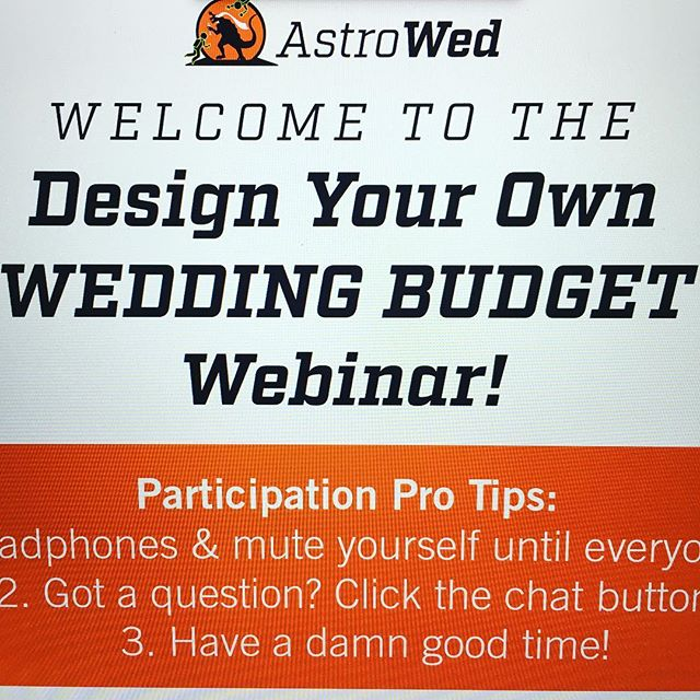 Join me now for our free #wedding budget #webinar!