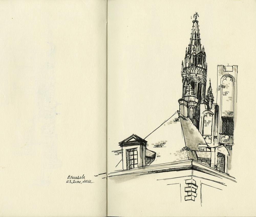 Urban Illustration: Brussels