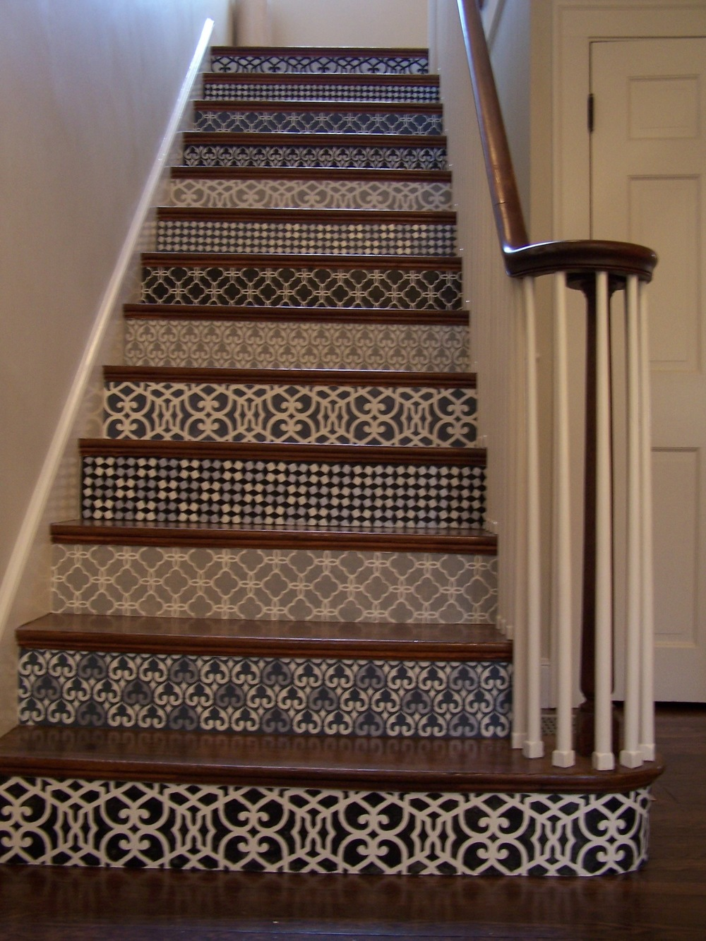 Stenciled staircase
