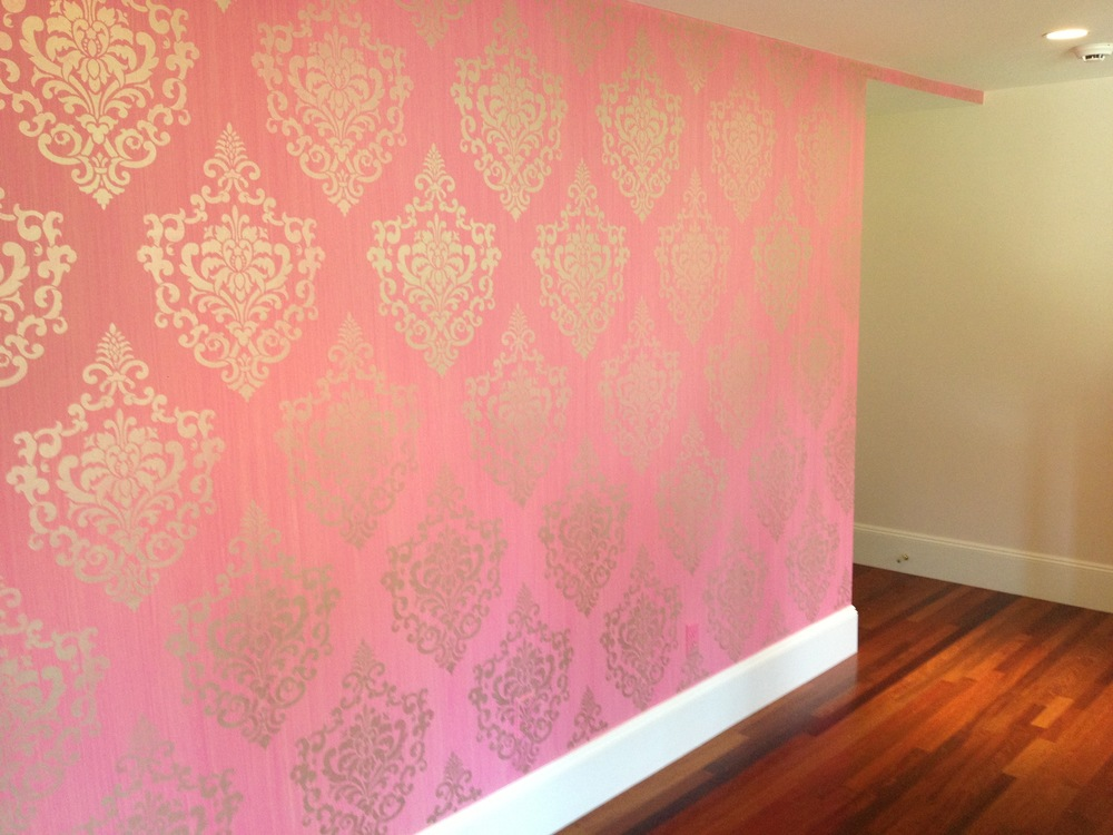Accent wall for baby girl bedroom