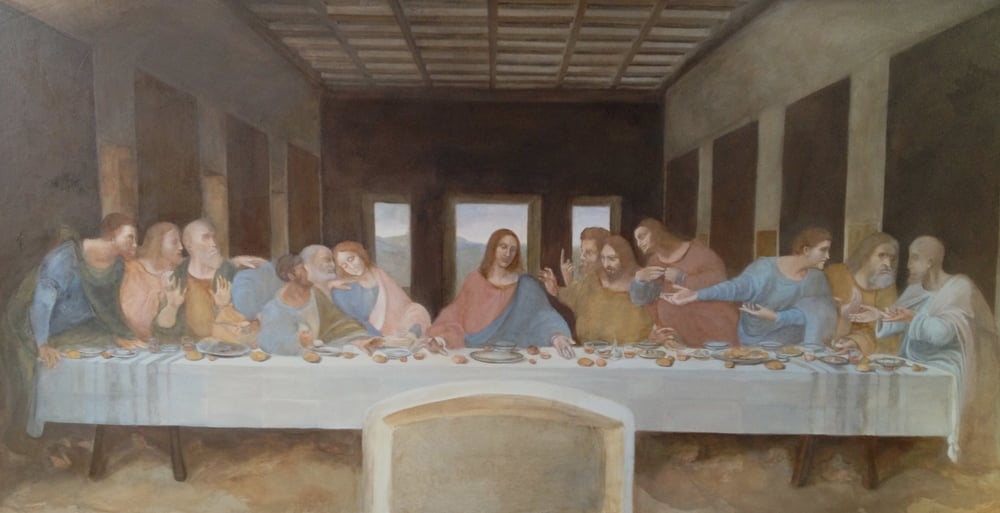 "Copy of Leonardo Da Vinci ""last Supper"""