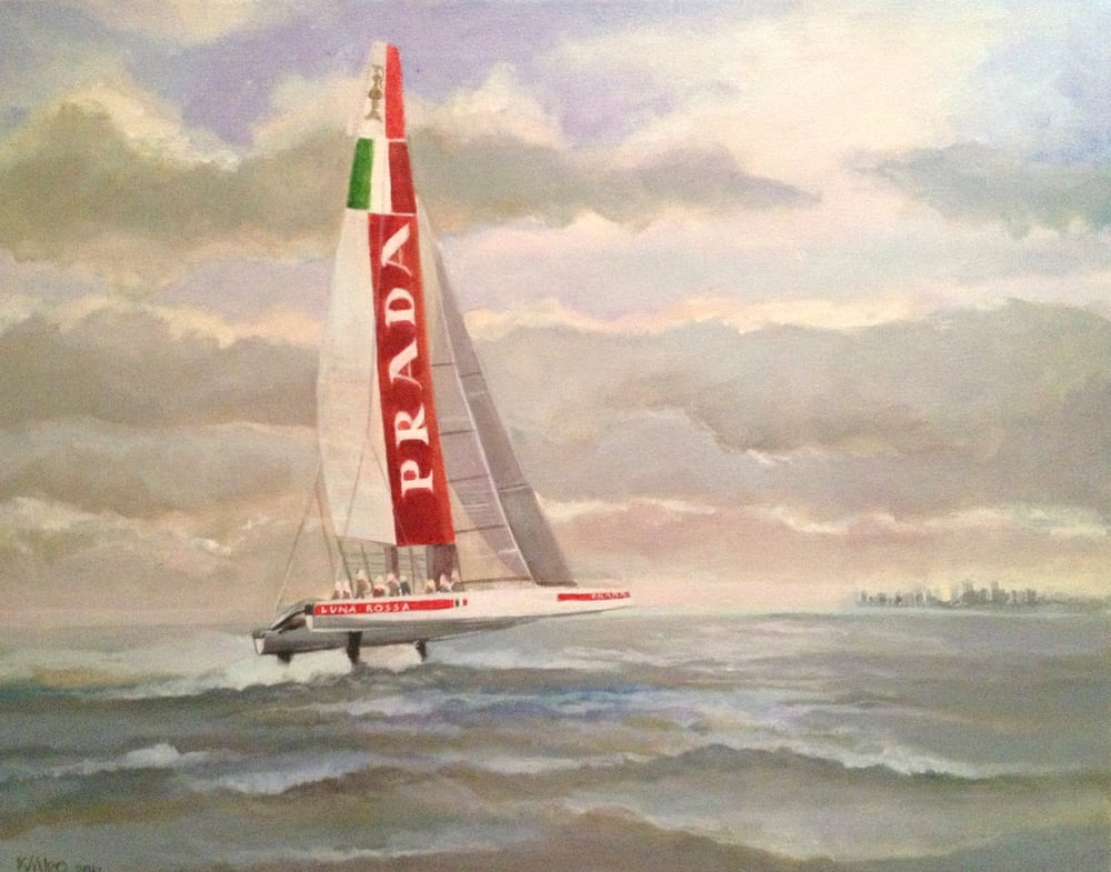 Luna Rossa in Boston Harbor