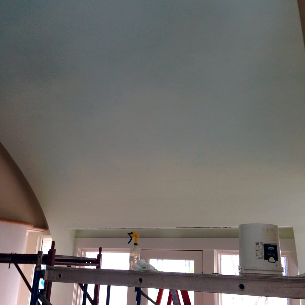 Gradient curved ceiling