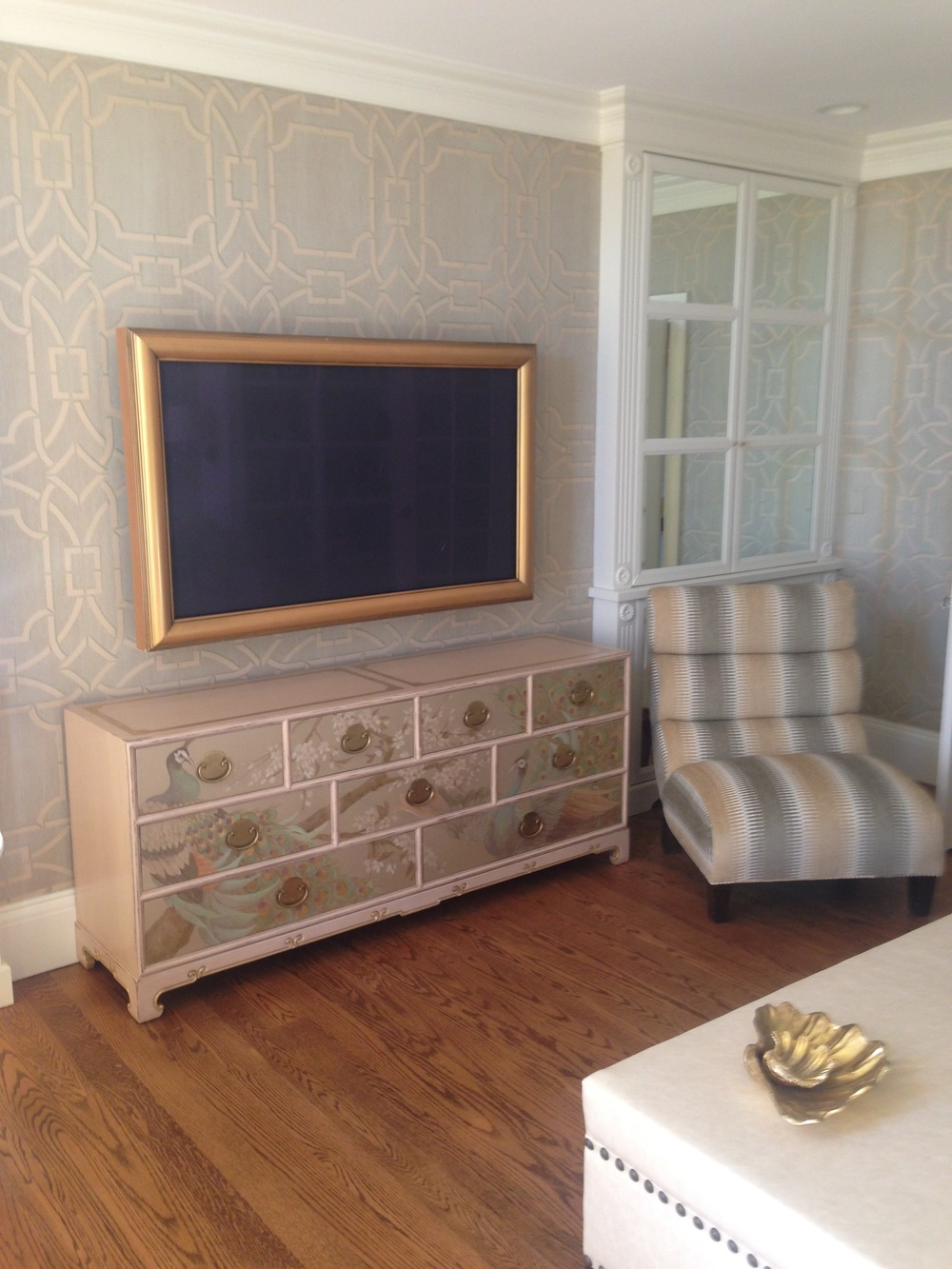 Chinoiserie inspired study in Beverly Farms
