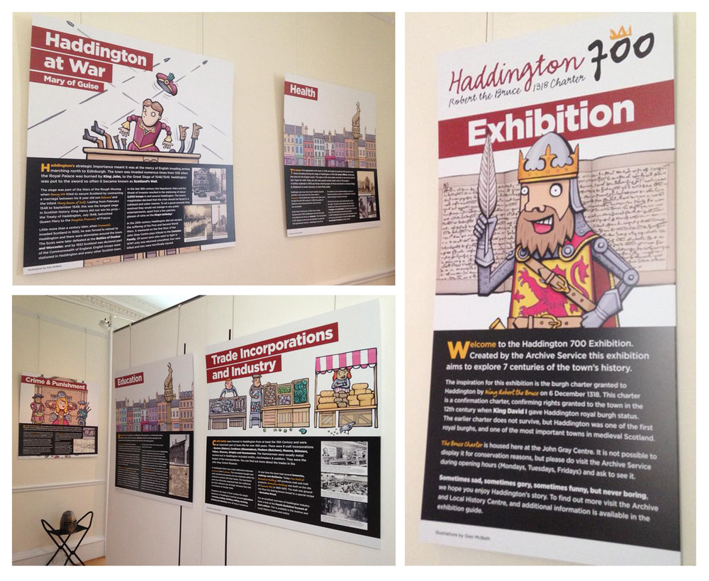 Haddington 700 exhibition panels