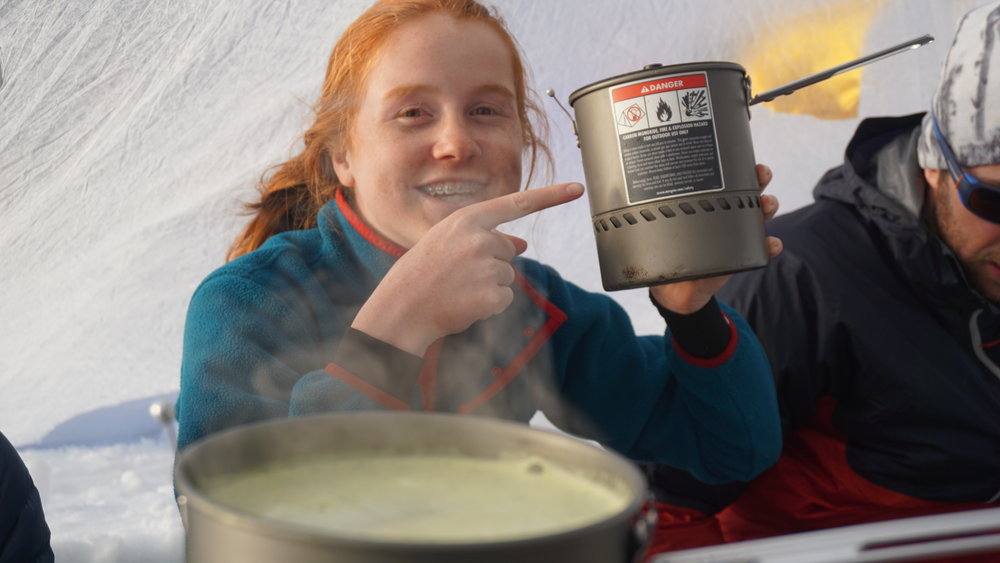 No stoves in the tent!