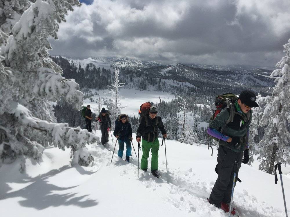 The group wanted to ski!