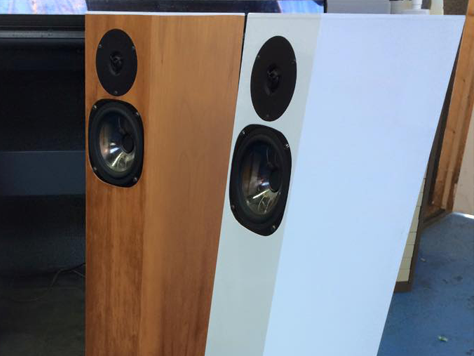 Speakers Wrap in White