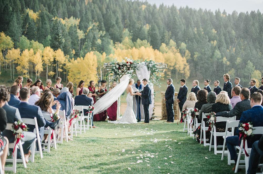 Rainy Wedding Ceremony on Film