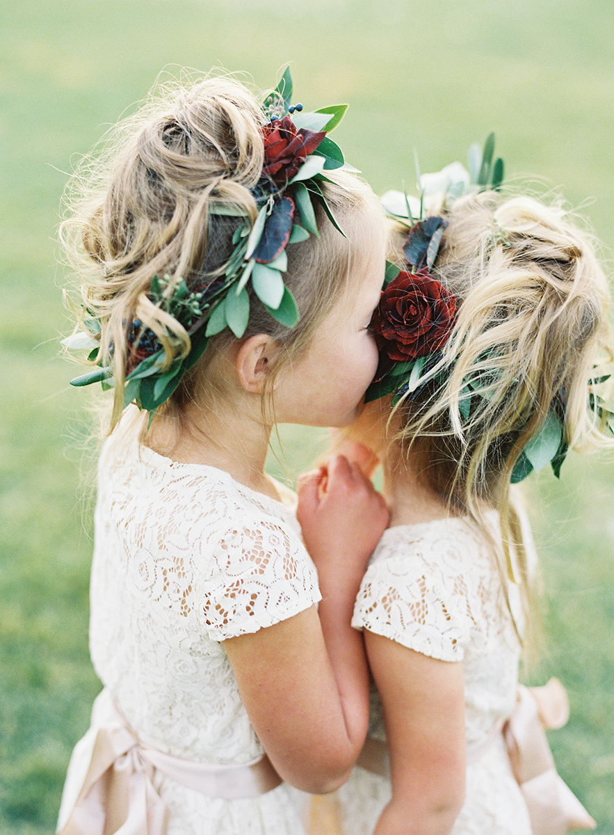Flower Girls with Flower Crowns on Film