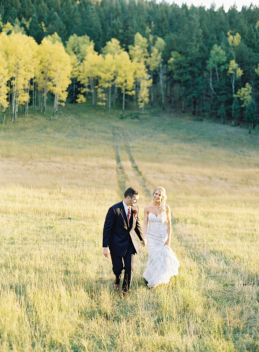Colorado Fall Bride and Groom on Film