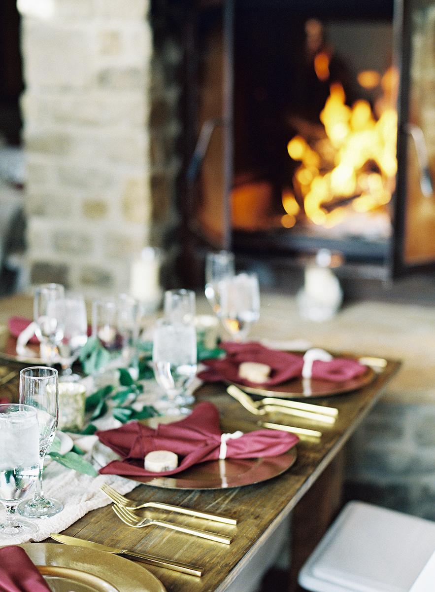 Fall Wedding Reception Details on Film