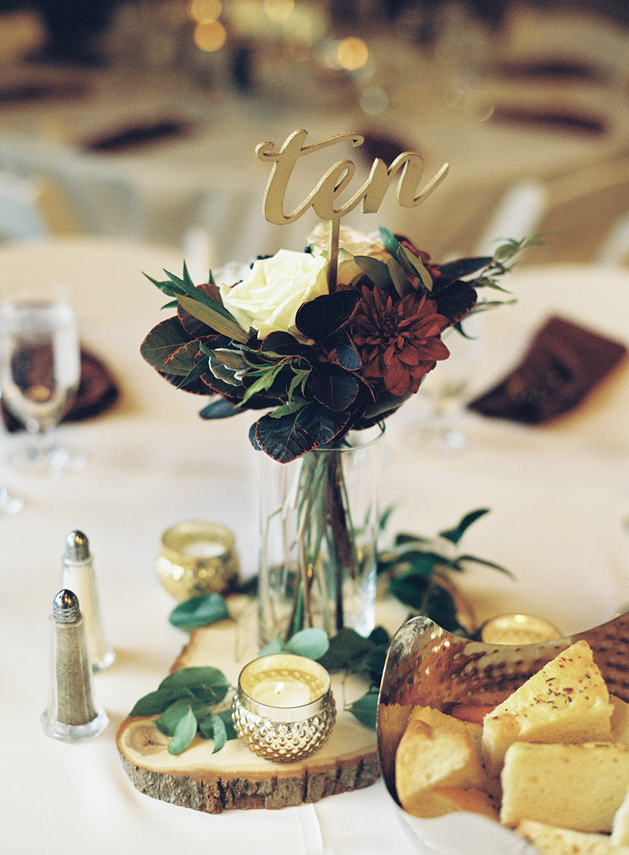 Wedding Reception Table Details on Film