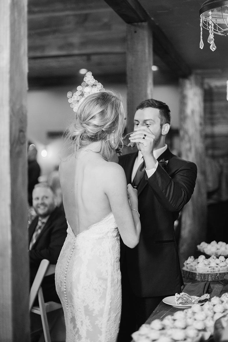 Wedding Cake Cutting on Film